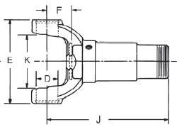 Spicer 1-3-88KX Slip Yoke Assembly